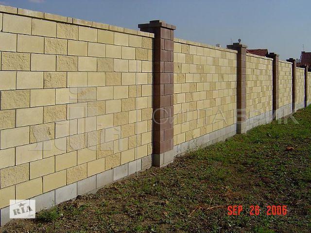 продам Блок заборный гладкий угловой бу в Кропивницком (Кировоград)