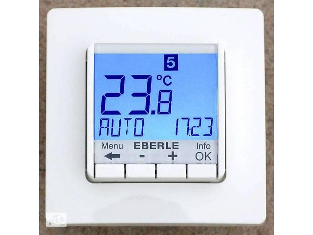бу Терморегулятор Eberle FIT 3F программируемый для теплых полов(с датчиками пола и воздуха) Белый в Киеве