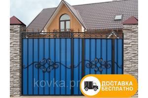 Ворота с встроенной калиткой, код: Р-0110
