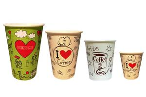 Бумажные стаканы, для кофе и чая.
