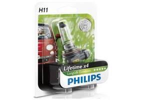 Автолампа PHILIPS H11 LongLife EcoVision, 1шт (12362LLECOB1)