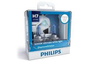 Автолампа PHILIPS H7 Diamond Vision, 5000K, 2шт (12972DVS2)