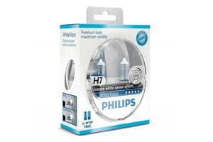 Автолампа PHILIPS H7 WhiteVision +60%, 3700K, 2шт (12972WHVSM)