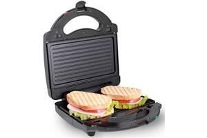 Бутербродница Domotec MS 7709, электрическая сэндвичница и контактный прижимной гриль для дома, тостер