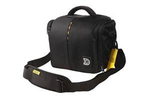 Чехол-Сумка Nikon D фото сумка + дождевик Черный с желтым ( IBF001B )