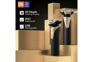 Электробритва мужская Xiaomi SOOCAS Electric Shaver S3 Black / Gold Mijia IPX7 бритва Type - C