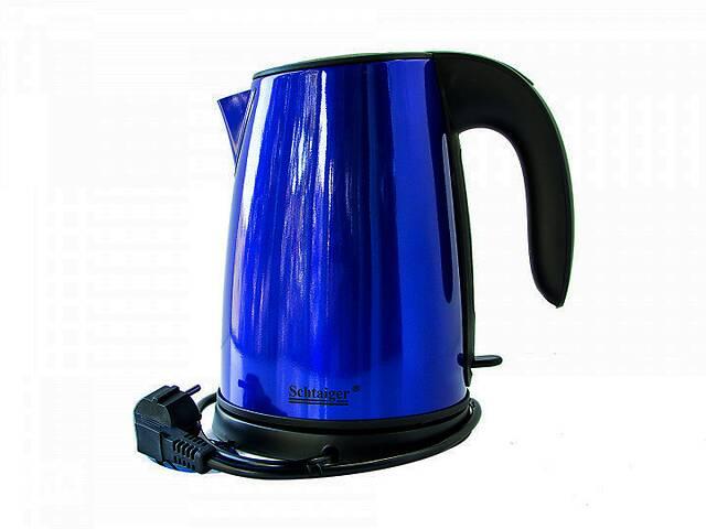 Дисковый металлический электрочайник из нержавеющей стали Schtaiger 97021 электрический чайник- объявление о продаже  в Харькове