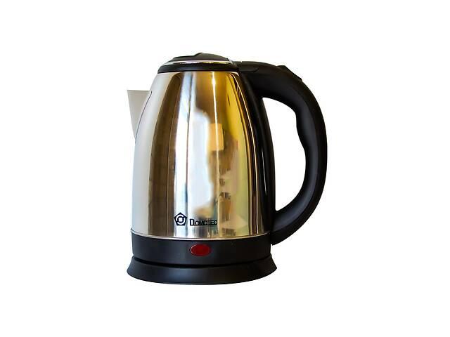 купить бу Электрический чайник Domotec 2 л Черный с серебристым в Харкові