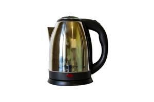 Электрический чайник Rainberg 1.8 л Черный с серебристым