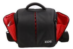 Фото сумка Canon EOS + дождевик Черный с красным ( IBF002B )