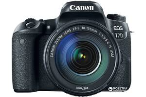 Фотоапарат Canon EOS 77D EF-S 18-135MM IS USM Kit Black (1892co24)