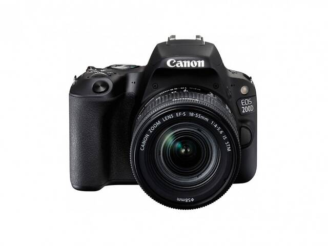 продам Фотоаппарат Canon EOS 200D kit (18-55mm) EF-S IS STM black бу в Харкові