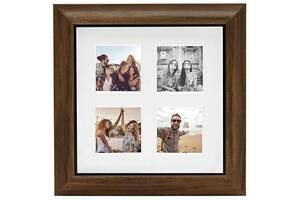 Фоторамка Fujifilm Instax 4 Mount Square Frame Teak коричневый