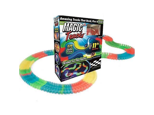 бу Гибкая гоночная трасса трэк-конструктор Kronos Toys Magic Tracks 220 деталей с светящейся машинкой в комплекте (par_m... в Киеве