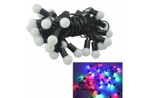 Гирлянда светодиодная новогодняя цветная Шарики 40 LED ламп 6м