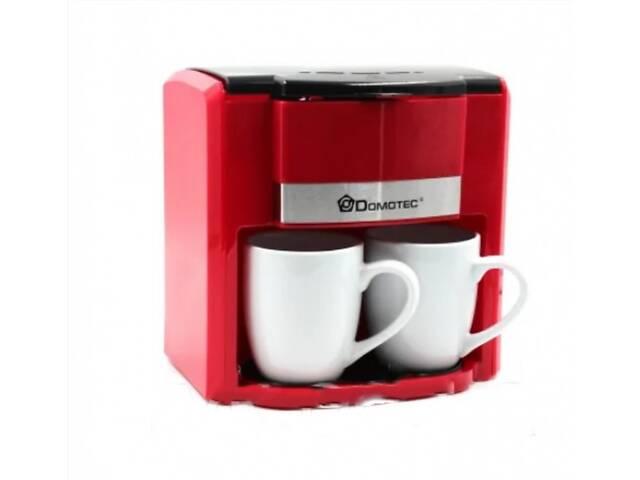 бу Крапельна кавоварка DOMOTEC MS-0705 500 Вт в наборі з 2 чашками червона в Харкові