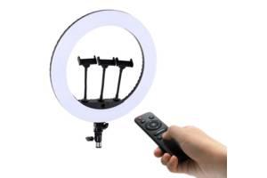 Кільцева лампа для блогера з пультом HQ 18N