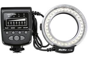 Кольцевая макровспышка Meike Canon MK-FC100 (SKWLEDR-C)
