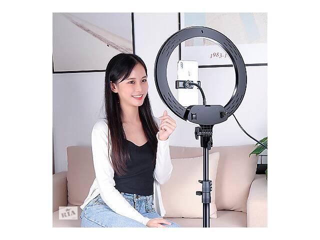 купить бу Лампа кільцева 33 см на штативі з пультом в Харкові