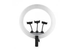 Лампа кольцевая светодиодная USB 45 см Ring Light JL-F348 7329 с держателями для 3 телефонов Белая (gr_014728)
