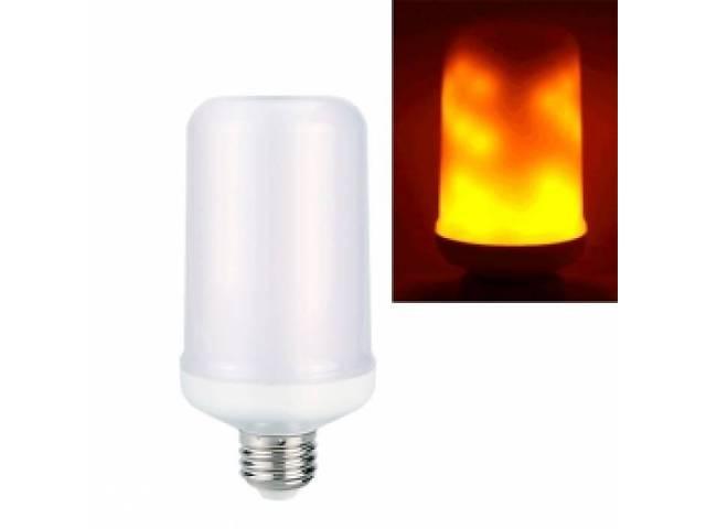 бу Лампа светодиодная декоративная с эффектом пламени огня E27 LED 9Вт  в Украине