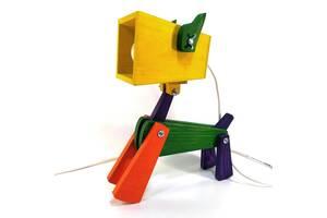 Лампа трансформер настольная Собака 37х35х15 см Мастерская мистера Томаса Сосна Разноцветная