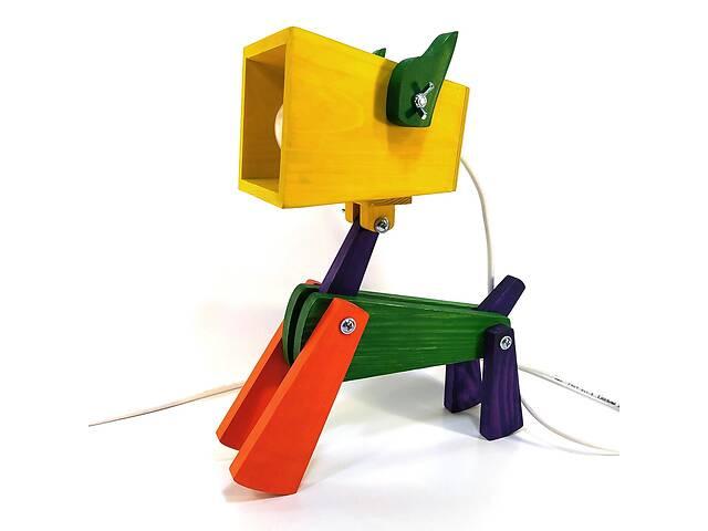 Лампа трансформер настольная Собака 37х35х15 см Мастерская мистера Томаса Сосна Разноцветная- объявление о продаже  в Вінниці