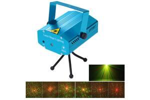 Лазерный проектор, стробоскоп, диско лазер NW-S-G06 UTM Лазерная установка цветомузыки с треногой (56-TD)
