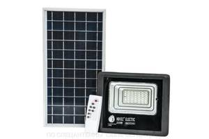 LED світильник 25W з сонячною панеллю 12W, акумулятор 5500mAh, пульт
