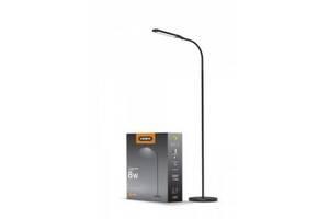 LED торшер підлоговий VIDEX VL-TF0702B 8W 3000-5500K 220V Чорний (297699)