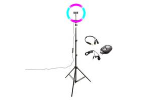 Набор блогера BS-600+ RGB Led микрофон + пульт ДУ