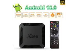 Нова модель Смарт ТВ приставки X96Q 2гб / 16Гб на Андроїд 10 для перегляду фільмів телебачення серфінгу в інтернеті