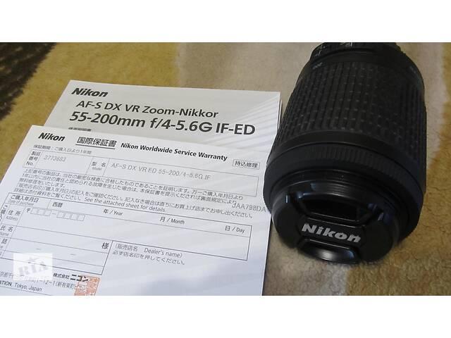 Объектив NIKON AF S DX VR Zoom-NIKKOR 55-200mm F 4-5,6 G ED IF-ED! Сумы!- объявление о продаже  в Сумах