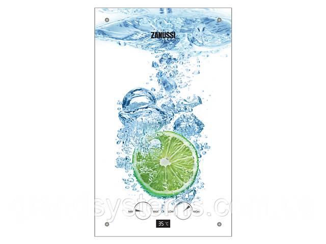 Проточный газовый водонагреватель Zanussi GWH 10 Fonte Glass Lime- объявление о продаже  в Киеве