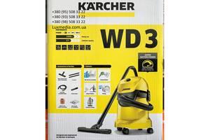Пылесос хозяйственный KARCHER WD 3 (1.629-821.0) (для сухой уборки и сбора воды + функция выдува)