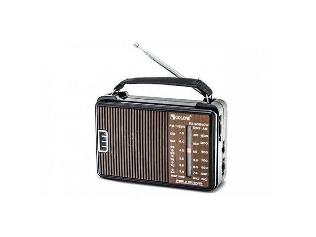 купить бу Радиоприёмник GOLON RX-608 CW Коричневый (sp_2319) в Киеве