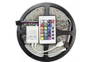 Светодиодная лента RGB 5050 300 LED 5 м - полный комплект влагозащищена (44917-IM)