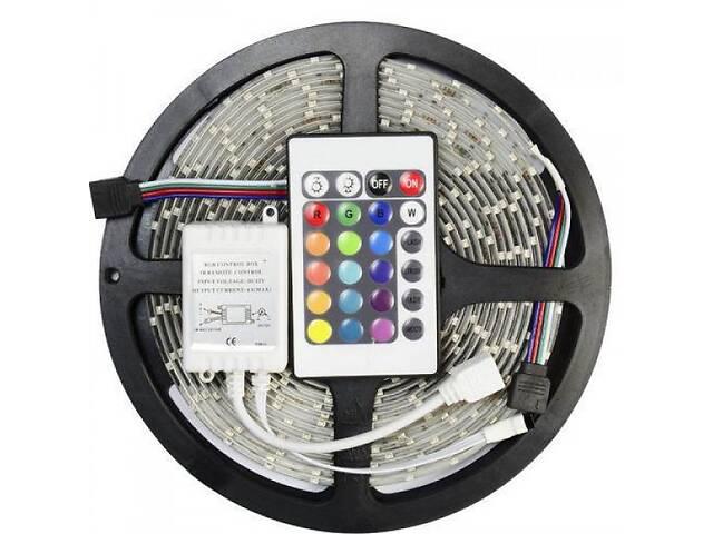 купить бу Светодиодная лента RGB 5050 300 LED 5 м - полный комплект влагозащищена (44917-IM) в Киеве