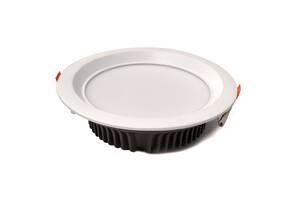Светильник потолочный встраиваемый светодиодный ЭНЕЙ Downlight 30Вт 3600Лм 3000K Белый (QC-DL030 3000K)