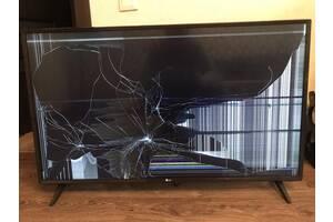 Телевизор на запчасти LG 43UJ630V разбит экран. Пульт указка