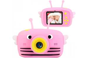 Цифровой детский фотоаппарат XoKo KVR-100 Bee Dual Lens Розовый (KVR-100-PN)