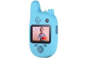 Цифровой детский фотоаппарат XOKO KVR-500 Walkie Talkie Рация и Две камеры Голубой (KVR-500-BL)
