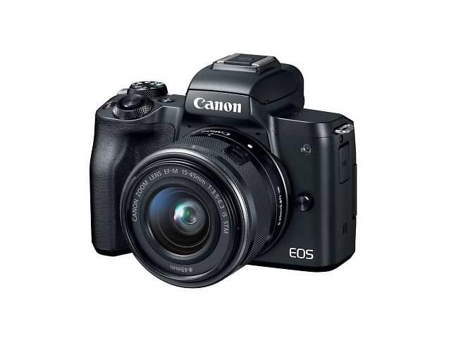 бу Цифровой фотоаппарат Canon EOS M50 + 15-45 IS STM + 22 STM Double Kit Black (2680C055) в Харкові