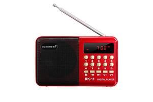 Цифровий радіоприймач Li-Ion акумулятор 18650 MP3 плеєр флешка FM радіо приймач