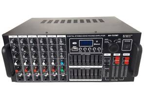 Усилитель звука UKC AV-737BT 2637 с караоке (gr_011615)