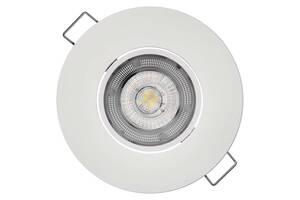 Встраиваемый поворотный светодидный светильник точечный EMOS ZD3122 5w, 4000K Белый
