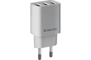 Зарядное устройство Defender UPA-31 white, 3xUSB, 5V / 3.1A (83587)