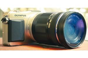 б/в Напівпрофесійні фотоапарати Olympus Pen EP-3 Kit (14-42mm) Silver