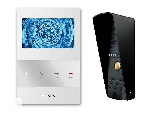 бу Комплект видеодомофона Slinex SQ-04M White + Панель Slinex ML-16HR Black в Киеве