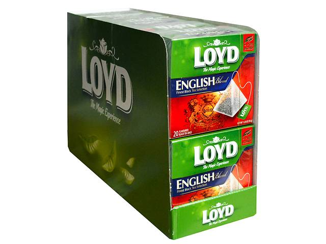 Чай в пакетиках пирамидках Loyd English Blend, 1,75г*20 шт, 10 уп.- объявление о продаже  в Киеве